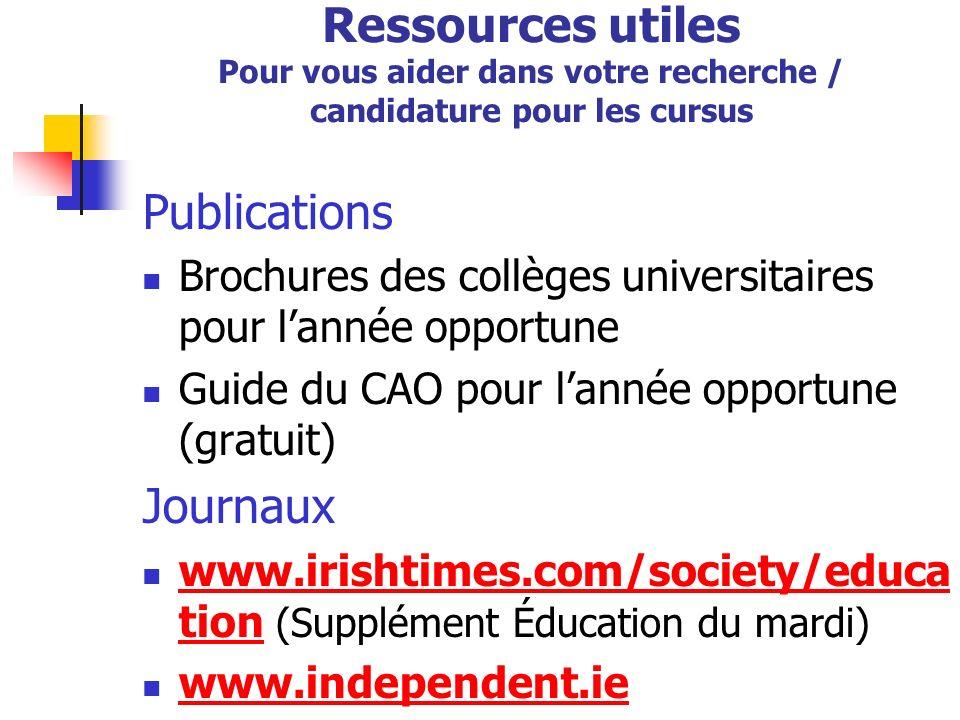 Les candidats ont les responsabilités suivantes : Faire des recherches détaillées sur les cursus pour lesquels ils présentent une candidature.