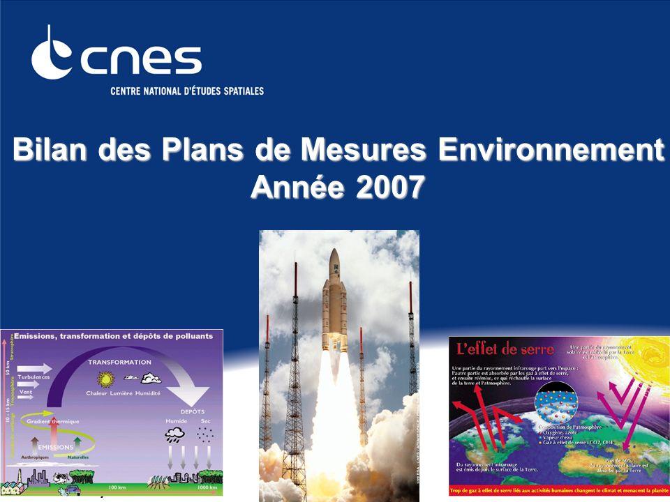 Présentation du 23 janvier 2009 1 Bilan des Plans de Mesures Environnement Année 2007