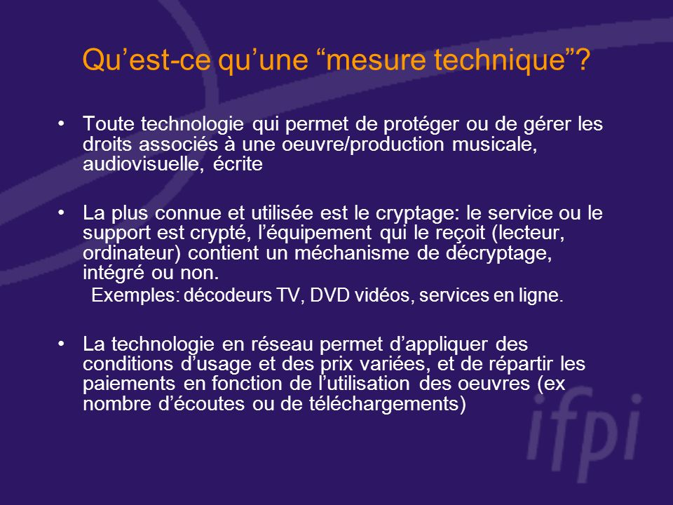 Quest-ce quune mesure technique.