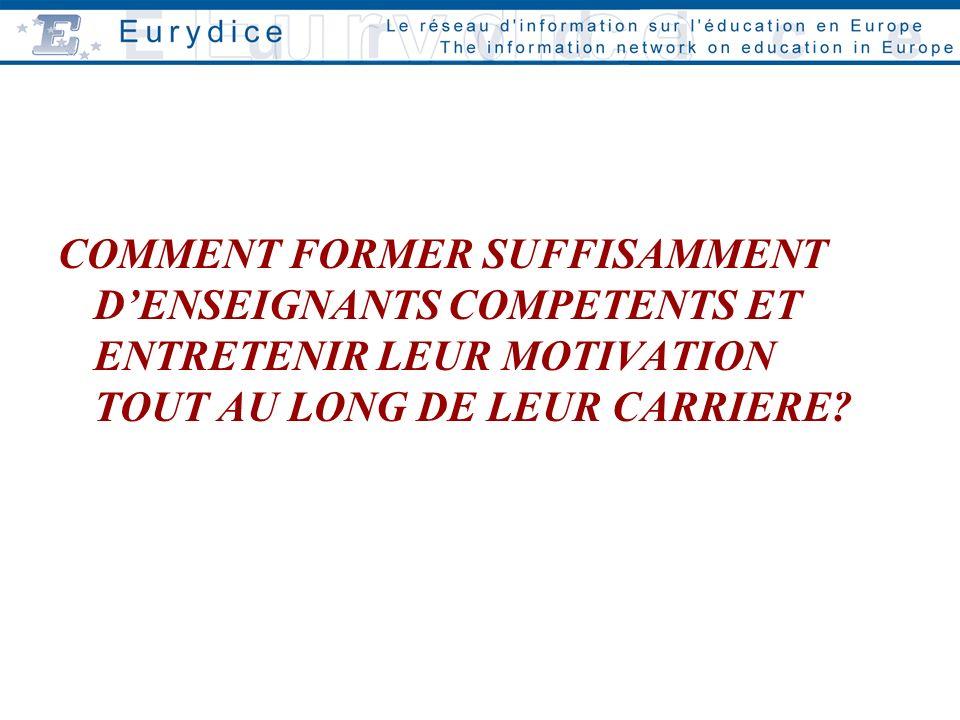 COMMENT FORMER SUFFISAMMENT DENSEIGNANTS COMPETENTS ET ENTRETENIR LEUR MOTIVATION TOUT AU LONG DE LEUR CARRIERE