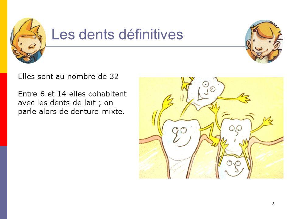 9 Dents de lait et dents définitives sont parfois malades. Cest…