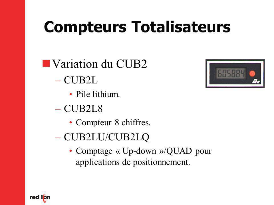 Compteurs Totalisateurs Variation du CUB2 –CUB2L Pile lithium.