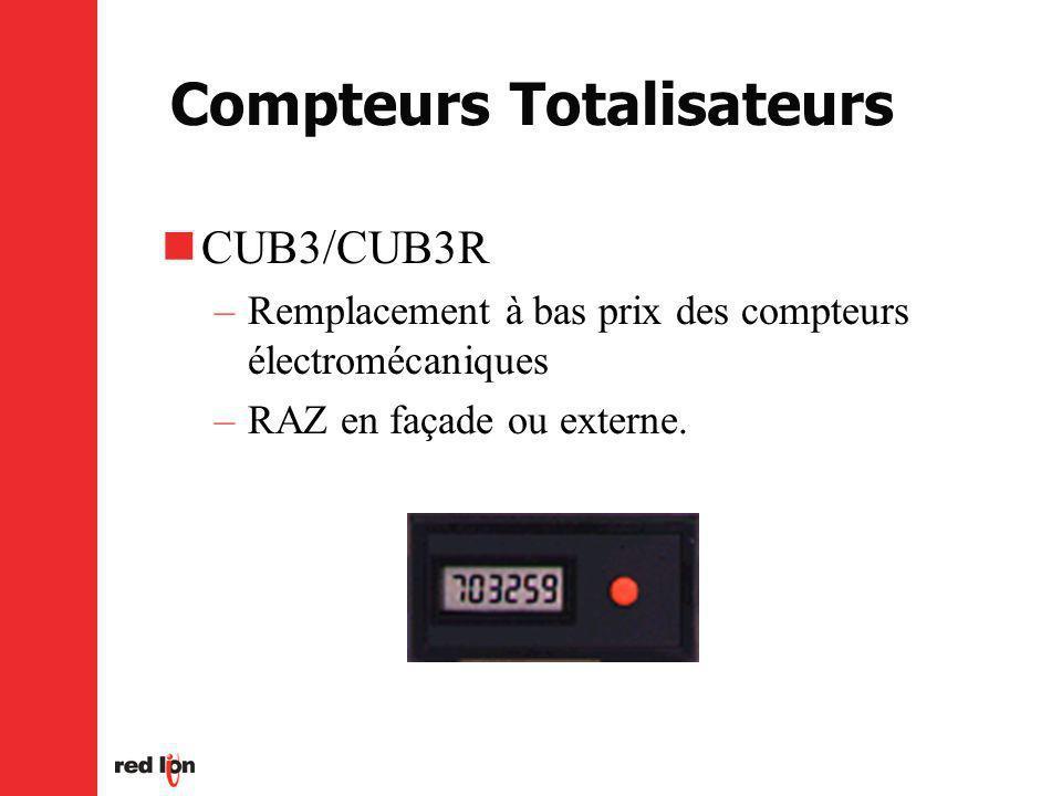 Compteurs Totalisateurs CUB3/CUB3R –Remplacement à bas prix des compteurs électromécaniques –RAZ en façade ou externe.