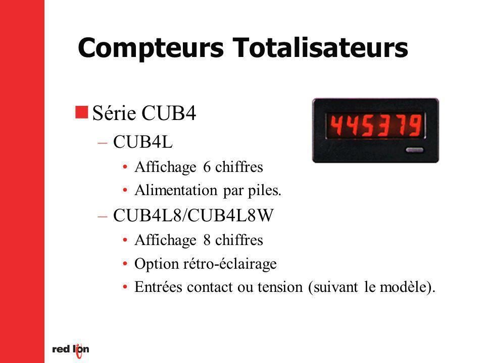 Compteurs Totalisateurs Série CUB4 –CUB4L Affichage 6 chiffres Alimentation par piles.