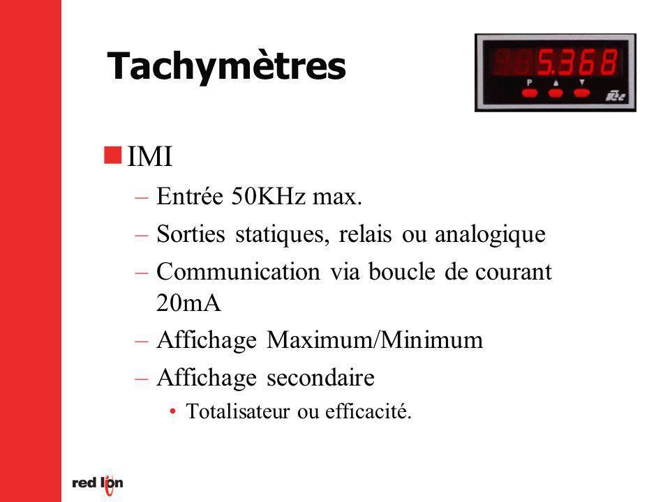 Tachymètres IMI –Entrée 50KHz max.