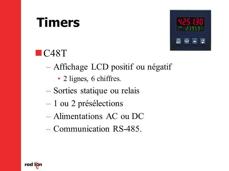C48T –Affichage LCD positif ou négatif 2 lignes, 6 chiffres.