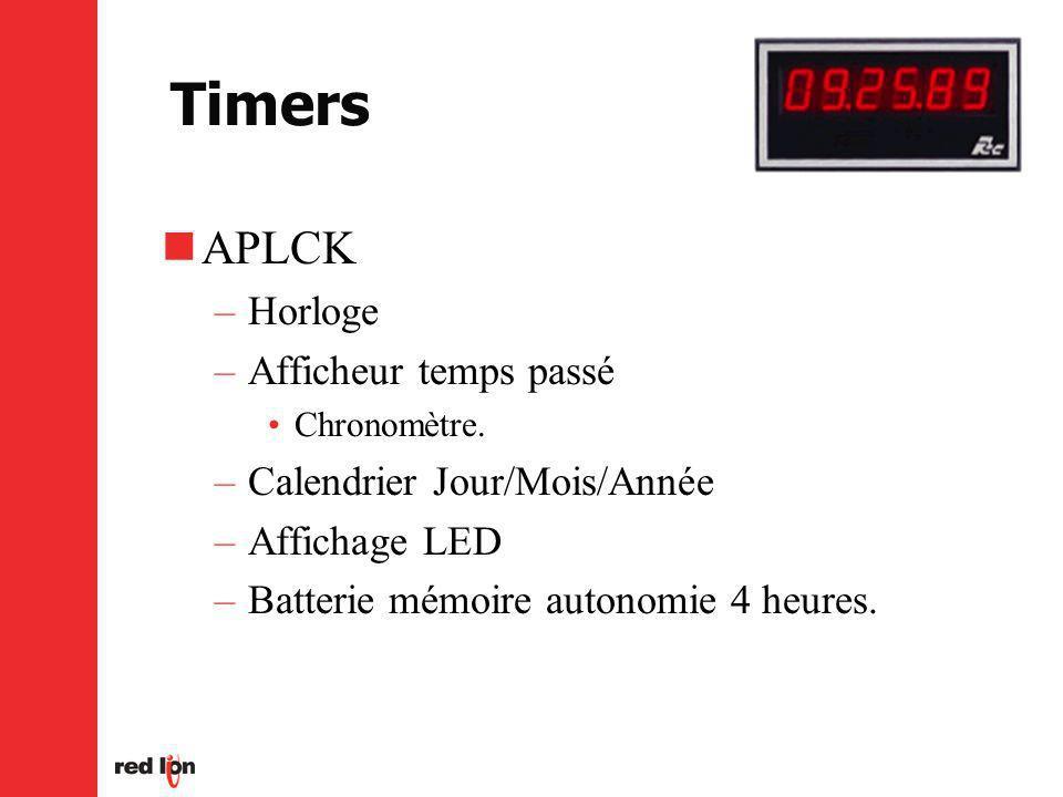 Timers APLCK –Horloge –Afficheur temps passé Chronomètre.