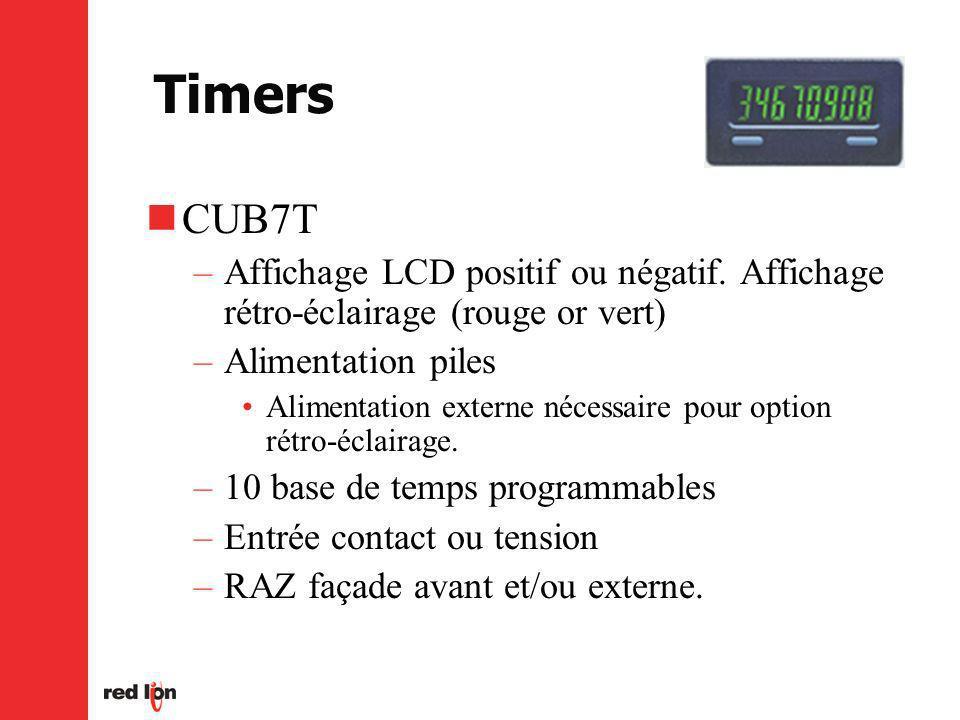 Timers CUB7T –Affichage LCD positif ou négatif.