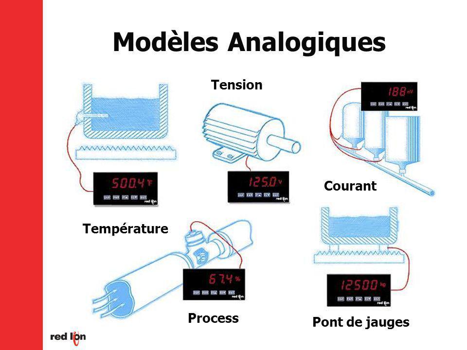 Modèles Analogiques Température Process Tension Courant Pont de jauges
