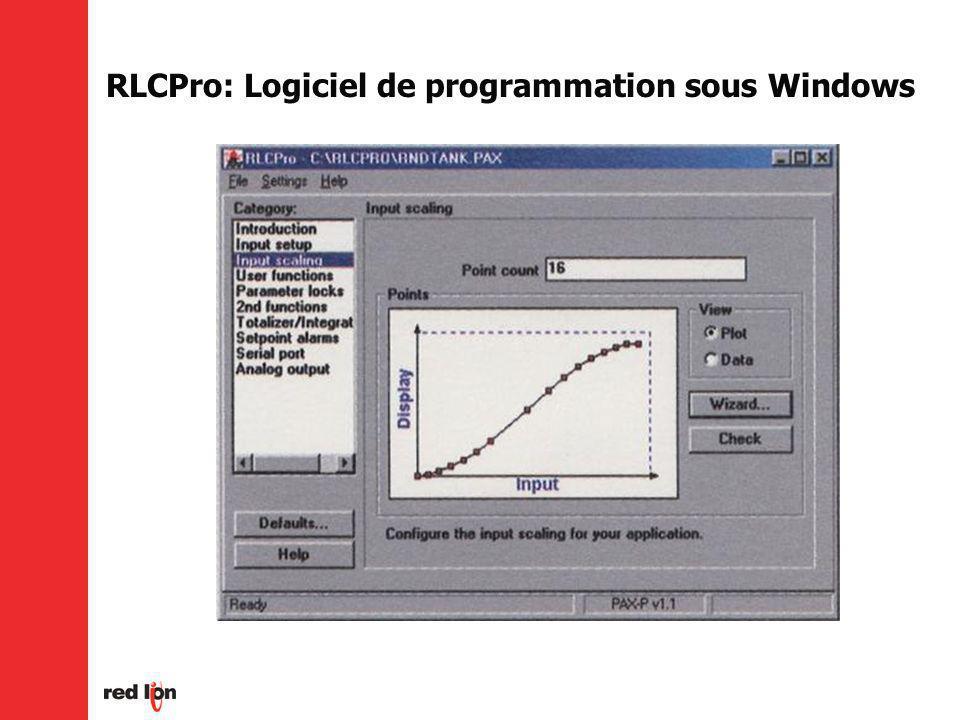 RLCPro: Logiciel de programmation sous Windows