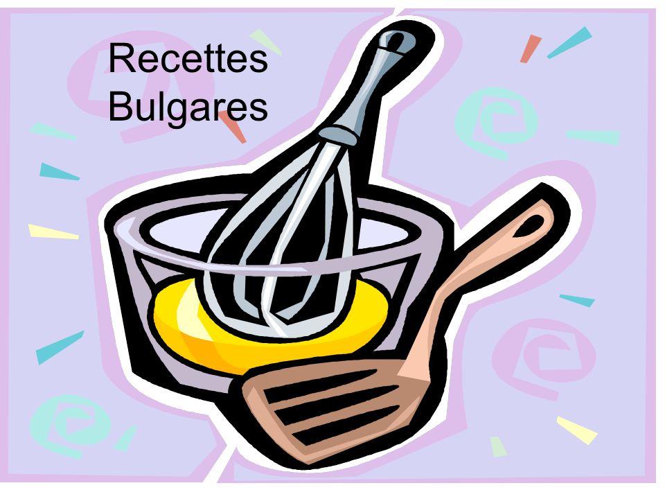 Recettes Bulgares