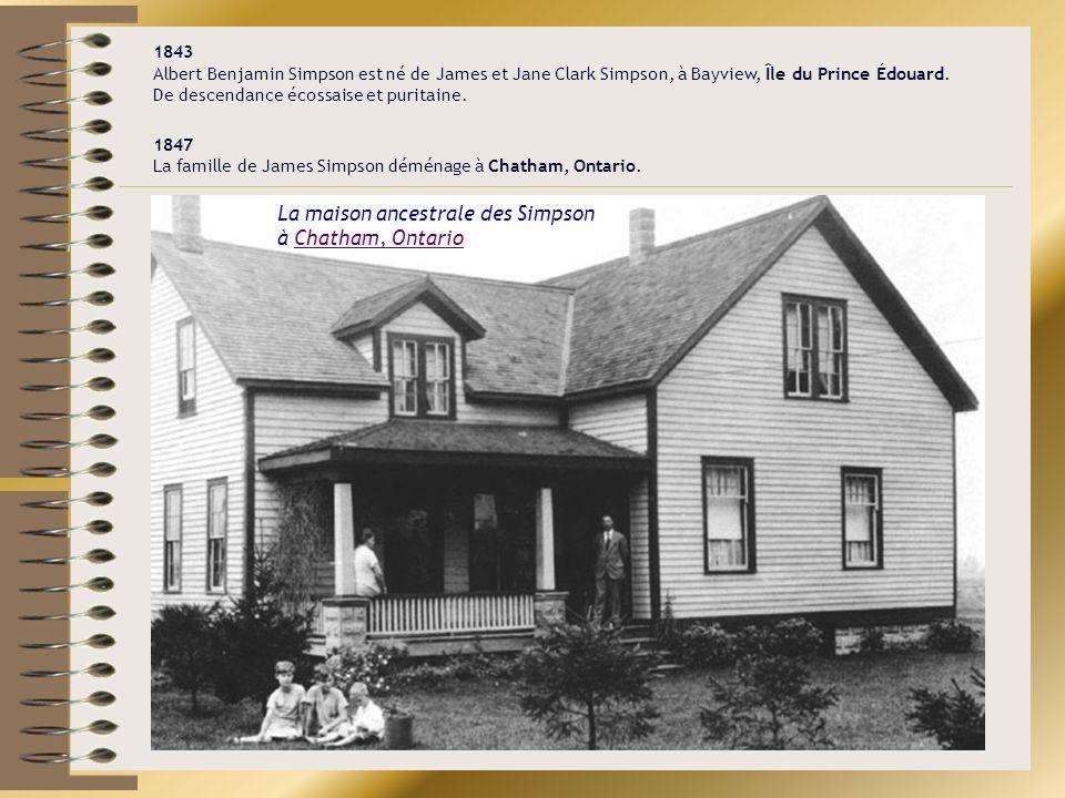 1897 Le « Missionary Training Institute » déménage à Nyack, New York.