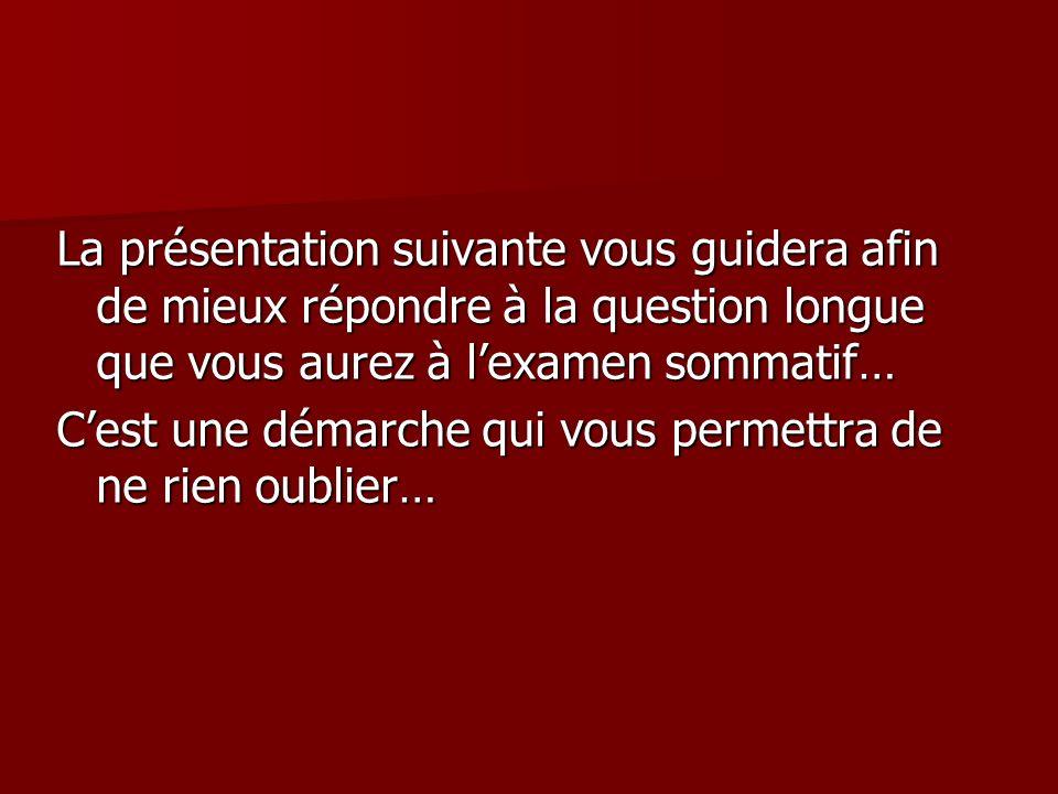 Rédigez alors votre brouillon… Dans votre cahier de réponses, à laide des informations relevées lors de la deuxième étape, rédigez un texte denviron 200 mots qui montre que la conception du nationalisme québécois a évoluée depuis lépoque de Duplessis.