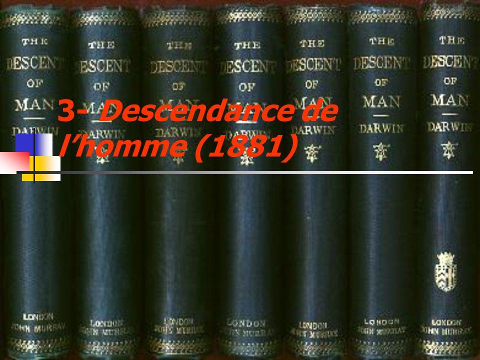 3- Descendance de lhomme (1881)