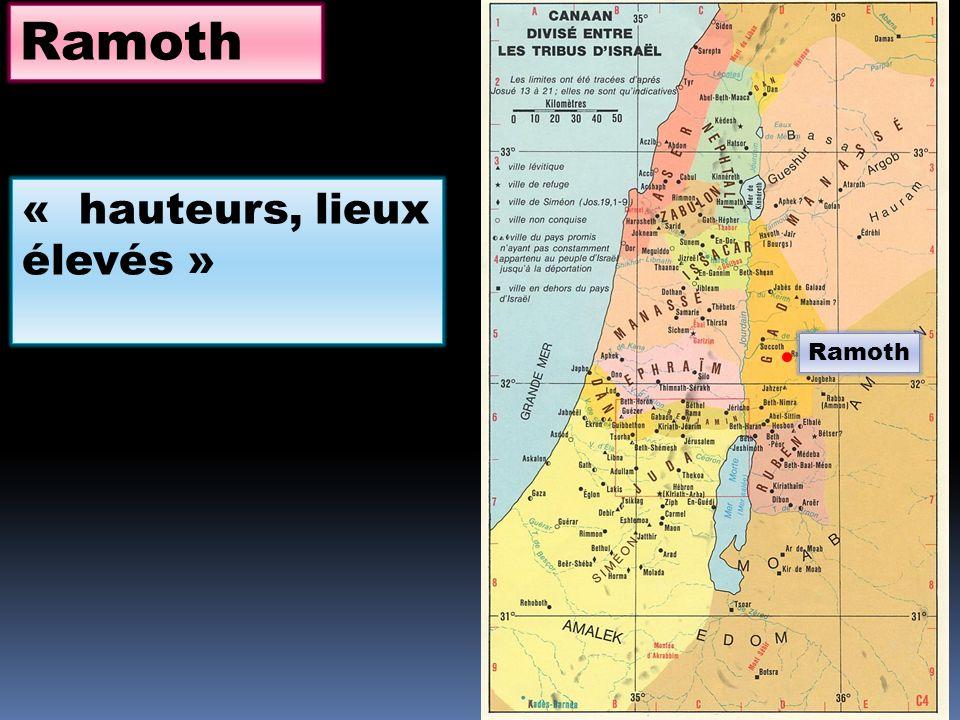 Ramoth « hauteurs, lieux élevés »