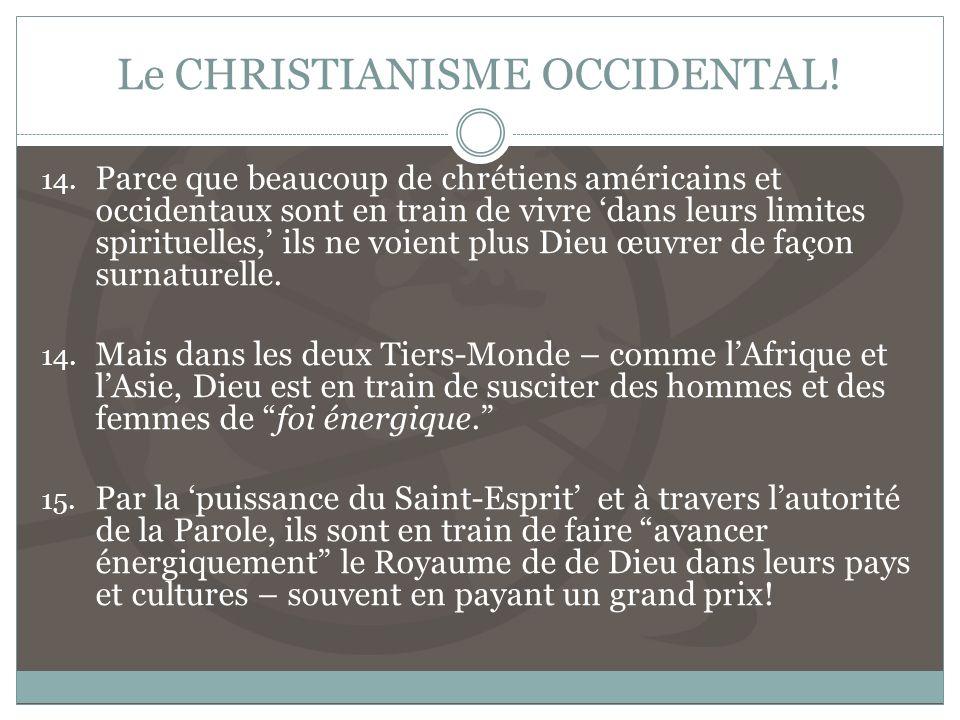 Le CHRISTIANISME OCCIDENTAL.14.