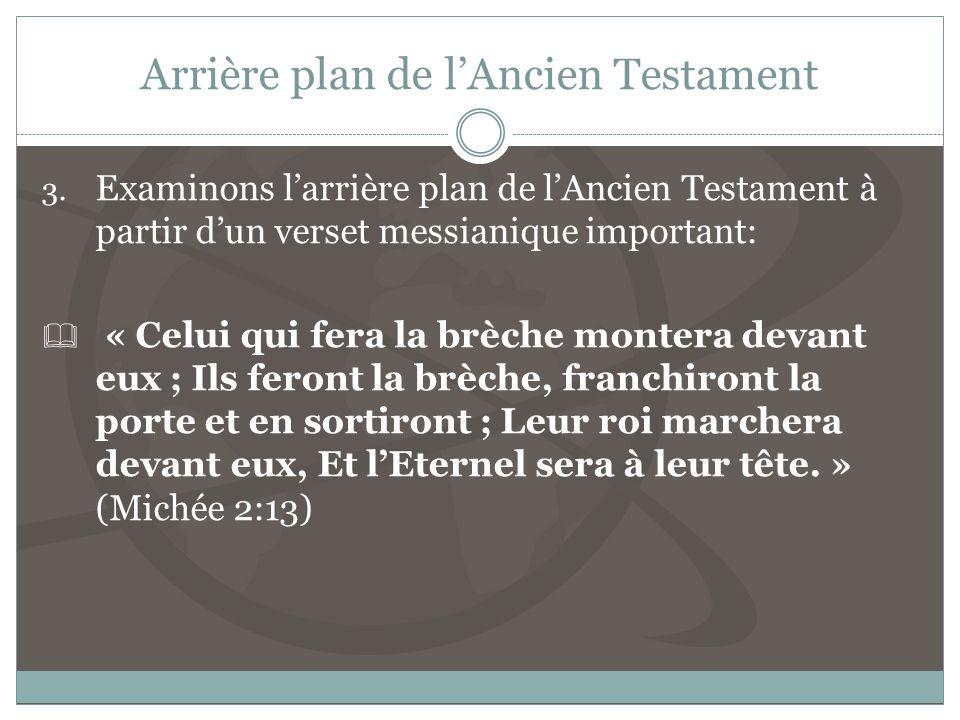 Arrière plan de lAncien Testament 3.