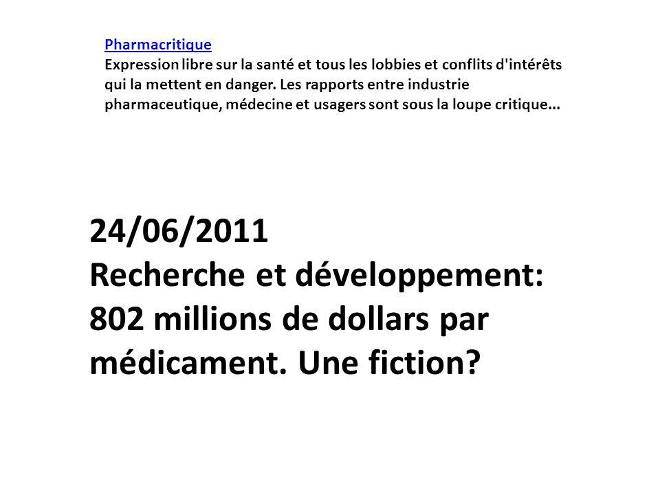 Pharmacritique Expression libre sur la santé et tous les lobbies et conflits d'intérêts qui la mettent en danger. Les rapports entre industrie pharmac