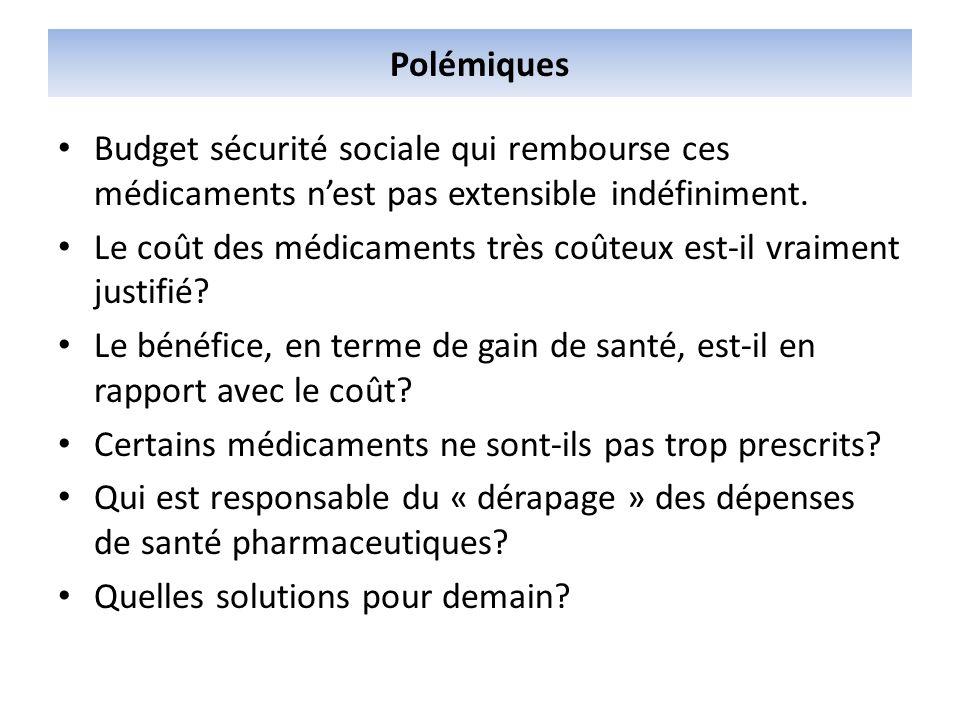 Polémiques Budget sécurité sociale qui rembourse ces médicaments nest pas extensible indéfiniment. Le coût des médicaments très coûteux est-il vraimen