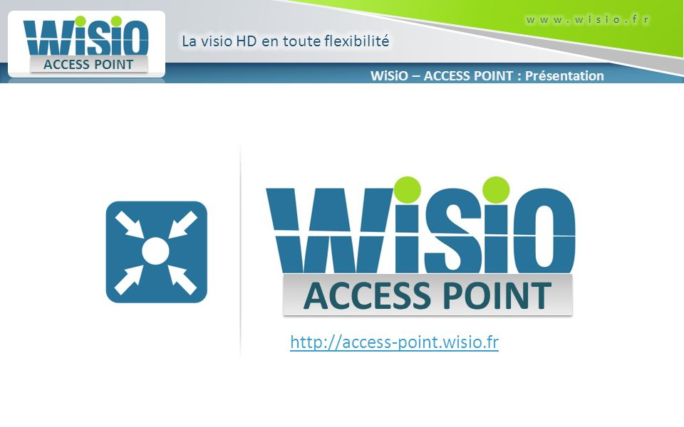 WiSiO – ACCESS POINT : Présentation ACCESS POINT http://access-point.wisio.fr