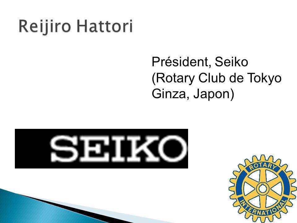 Président, Seiko (Rotary Club de Tokyo Ginza, Japon)