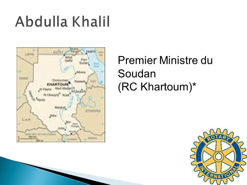 Premier Ministre du Soudan (RC Khartoum)*