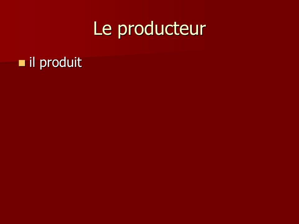 Le producteur il produit il produit