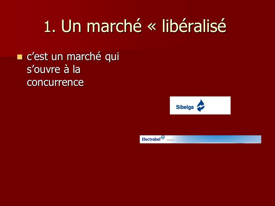 1.Un marché « libéralisé 1.