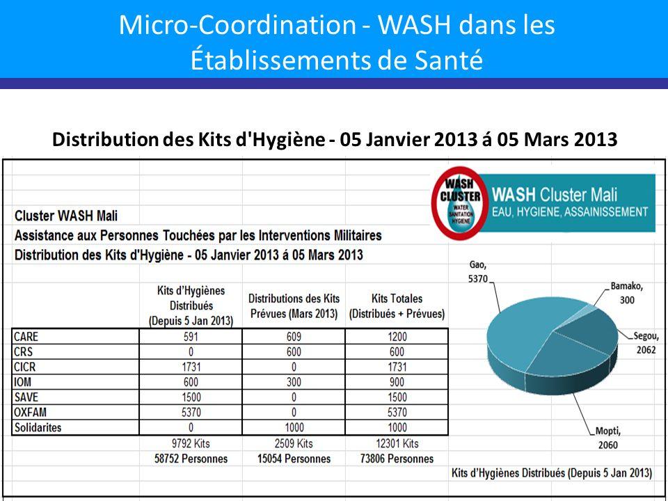 Micro-Coordination - WASH dans les Établissements de Santé CSCOMs + CSREFs avec Partenaire WASH par région 7