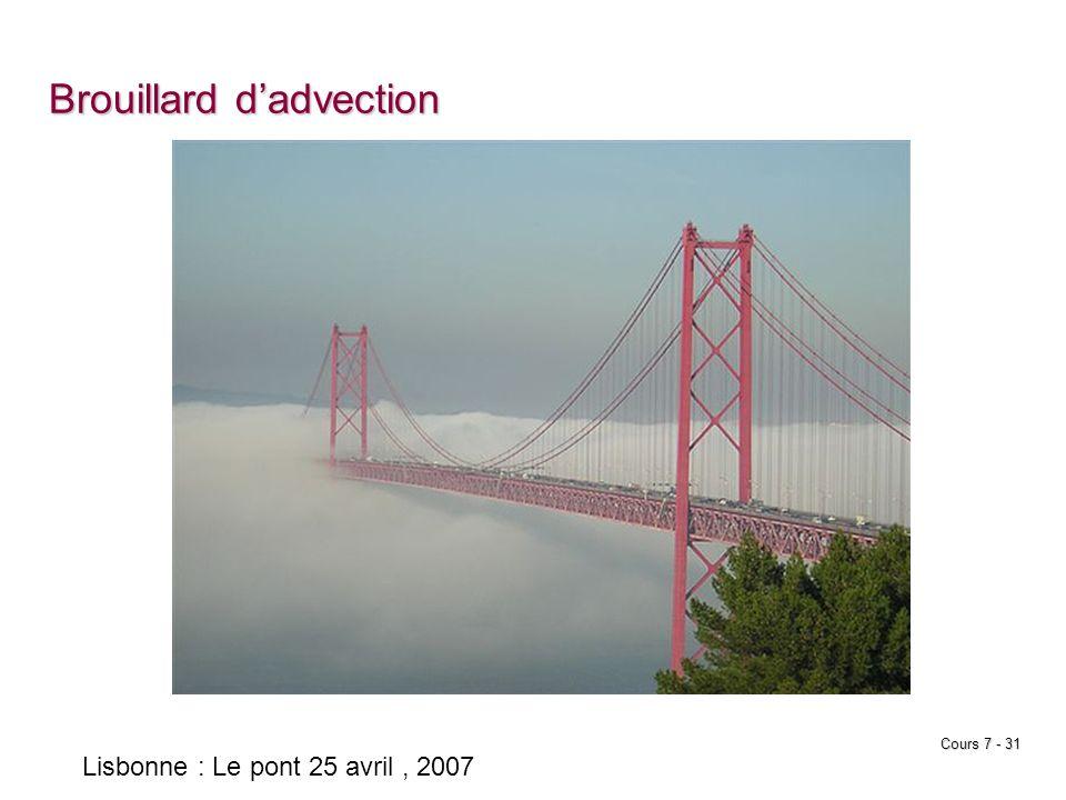 Cours 7 - 31 Brouillard dadvection Lisbonne : Le pont 25 avril, 2007