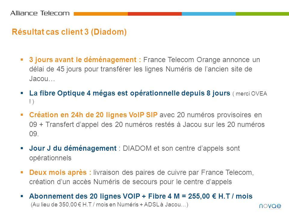 3 jours avant le déménagement : France Telecom Orange annonce un délai de 45 jours pour transférer les lignes Numéris de lancien site de Jacou… La fib