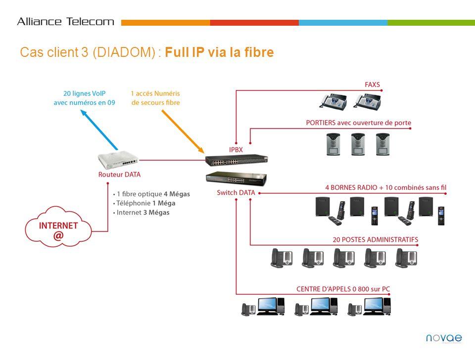 Cas client 3 (DIADOM) : Full IP via la fibre