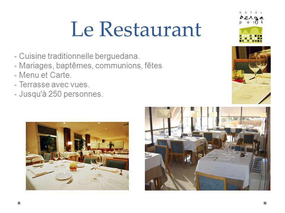 Le Restaurant - Cuisine traditionnelle berguedana. - Mariages, baptêmes, communions, fêtes - Menu et Carte. - Terrasse avec vues. - Jusqu'à 250 person