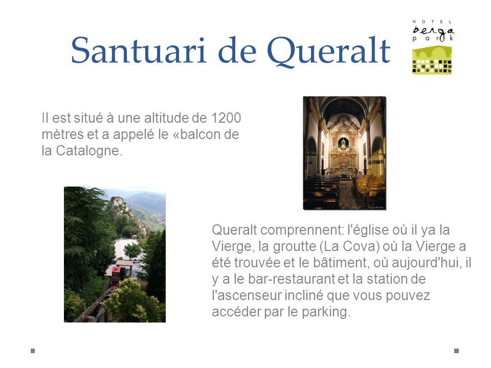 Santuari de Queralt Il est situé à une altitude de 1200 mètres et a appelé le «balcon de la Catalogne. Queralt comprennent: l'église où il ya la Vierg
