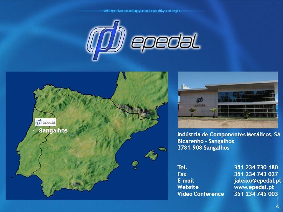 Indústria de Componentes Metálicos, SA Bicarenho – Sangalhos 3781-908 Sangalhos Tel.351 234 730 180 Fax351 234 743 027 E-mailjaleixo@epedal.pt Website