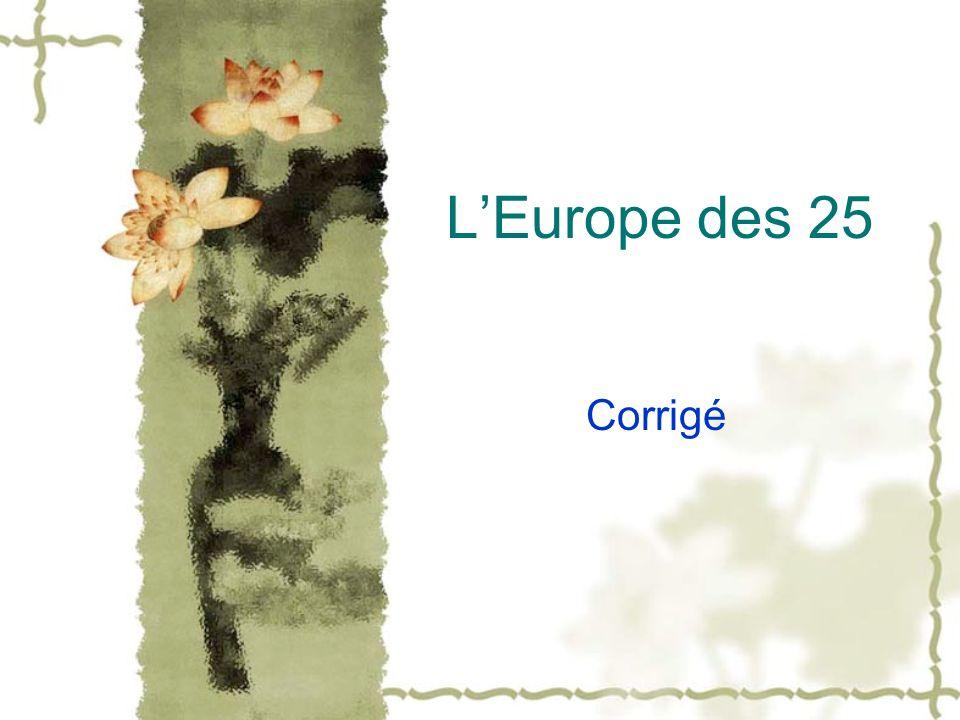 LEurope des 25 Corrigé