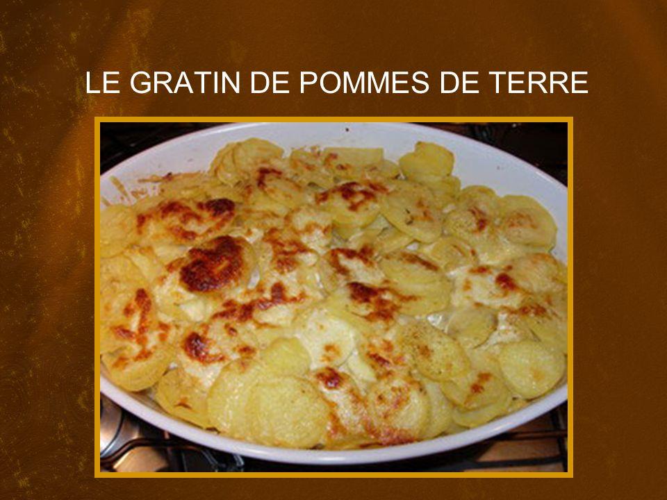 Pour 6 personnes, il vous faut : 1 kg ___ pommes de terre 1 litre ___ lait 1 Bouquet garni (mixed herbs) 1 noix ___ beurre (what do you think this means?) 1 gousse ___ail 300 ml ___ crème 100 g ___ Comté (une sorte de fromage) Sel fin Poivre 2 pincées ___ noix de muscade râpée (nutmeg-grated)