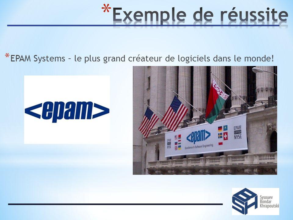 * EPAM Systems – le plus grand créateur de logiciels dans le monde!