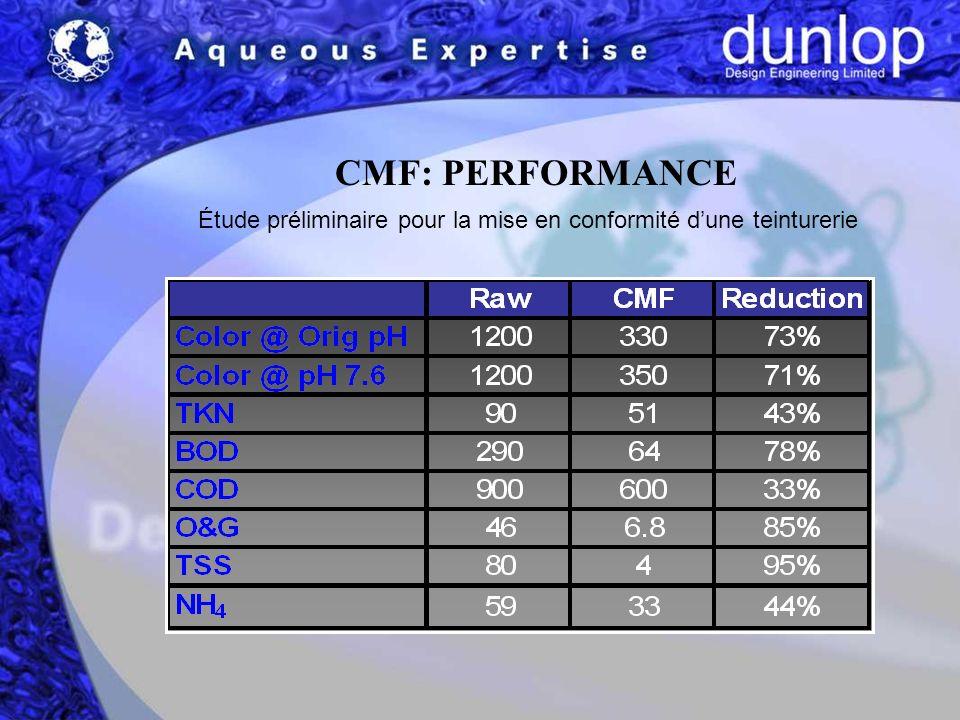 CMF: PERFORMANCE Étude préliminaire pour la mise en conformité dune teinturerie