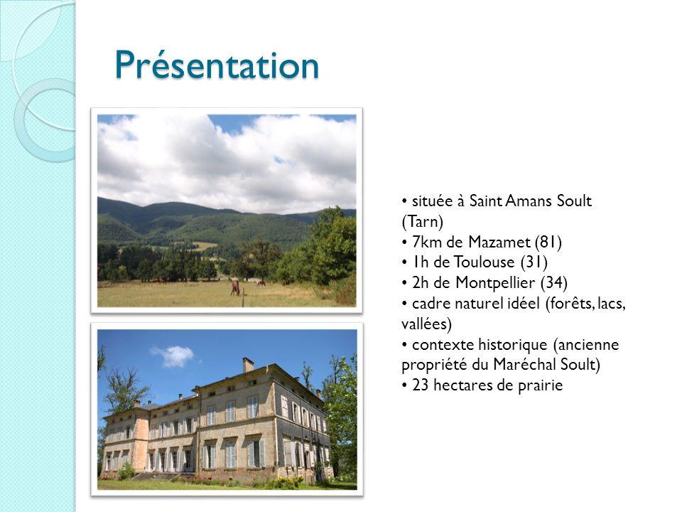 Présentation située à Saint Amans Soult (Tarn) 7km de Mazamet (81) 1h de Toulouse (31) 2h de Montpellier (34) cadre naturel idéel (forêts, lacs, vallé