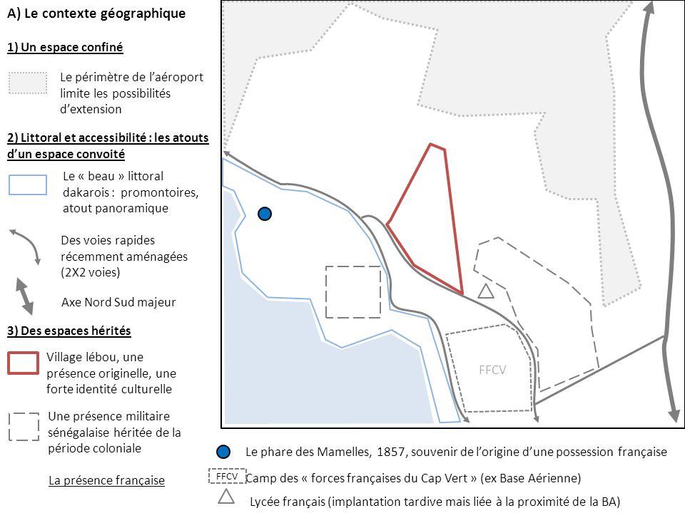 1) Un espace confiné 2) Littoral et accessibilité : les atouts dun espace convoité Le périmètre de laéroport limite les possibilités dextension Des vo
