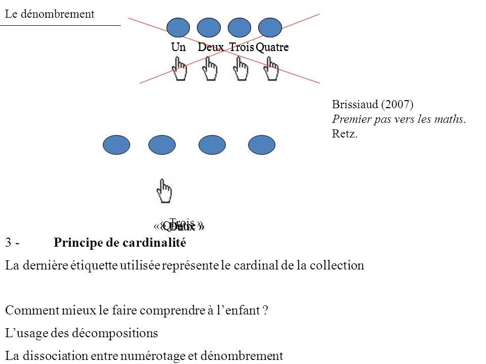 Le dénombrement 4 -Principe dabstraction Lhétérogénéité (vs.