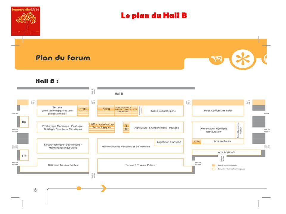 Le plan du Hall B
