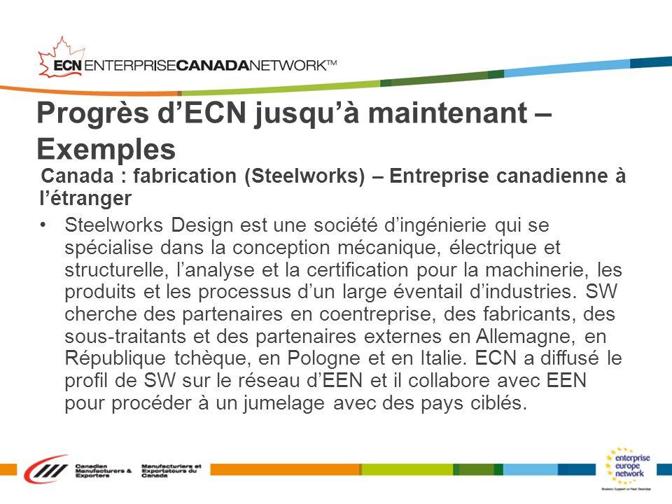 Canada : fabrication (Steelworks) – Entreprise canadienne à létranger Steelworks Design est une société dingénierie qui se spécialise dans la concepti