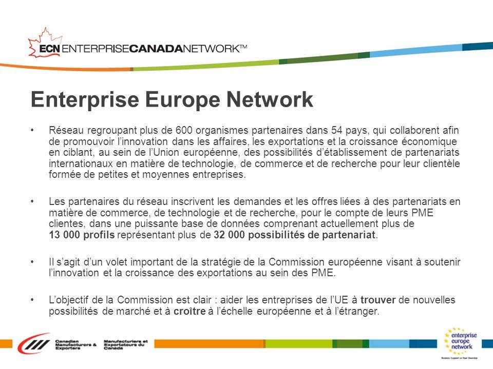 Réseau regroupant plus de 600 organismes partenaires dans 54 pays, qui collaborent afin de promouvoir linnovation dans les affaires, les exportations