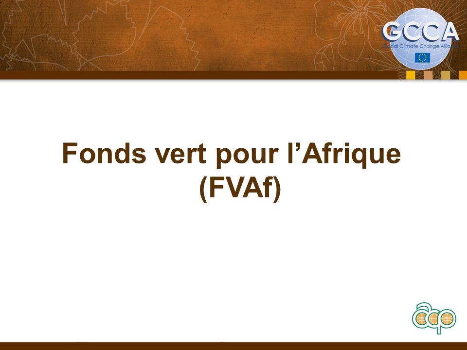Fonds vert pour lAfrique (FVAf)