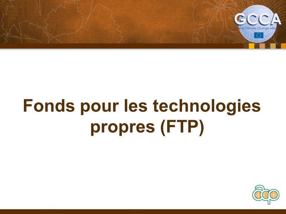 Fonds pour les technologies propres (FTP)