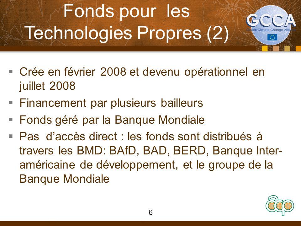 ICF : critères daccès Fonds passent par des programmes administrés de manière multilatérale et se basent sur les principes suivants: Conformité avec les définitions du CAD de laide publique au développement Conformité avec les accords du RU sur lefficacité de laide (sous la Déclaration de Paris) Performance ouverte et transparence du projet Choix des instrument et environnement propice approprié 37