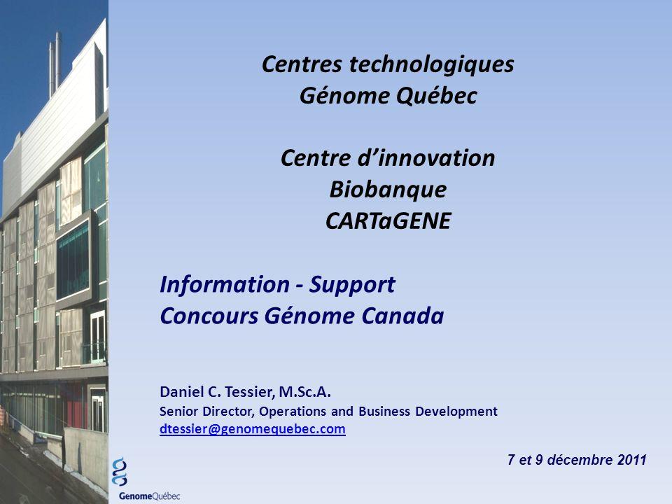 Information - Support Concours Génome Canada Daniel C.