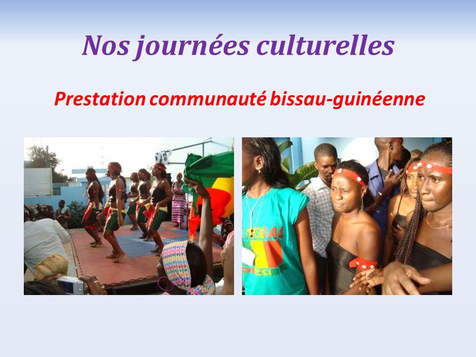 Nos journées culturelles Prestation communauté bissau-guinéenne